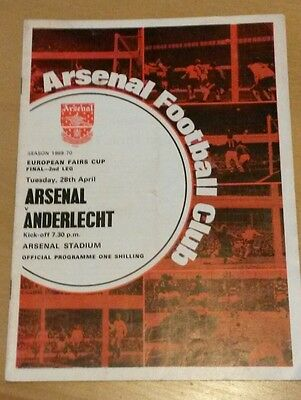 1970 Fairs Cup Final, Arsenal vs Anderlecht