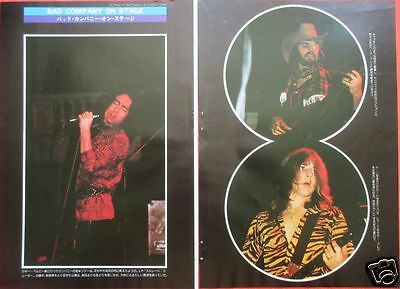BAD COMPANY PAUL RODGERS Simon Kirke 1975 CLIPPING JAPAN MAGAZINE ML 8A 3PAGE