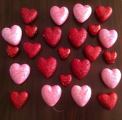 New Set Of 24 Heart Bowl Fillers Ornament Valentine's Day Winter Spring  Decor