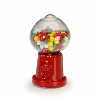 Miniature Dollhouse Fairy Garden Small Red Gumball Machine - Buy 3 Save $5