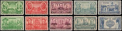 US #785-794 MH set of 1936 Army/Navy issue