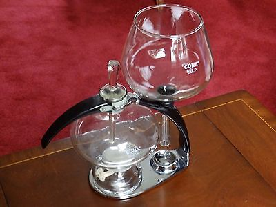 Cona, table top, glass, coffee maker, size D (2pts,1200mls), complete 70s model