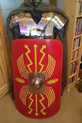 36 inch Metal Roman Scutum Shield Ideal 4 Re-enactment, Stage, Costume Or LARP
