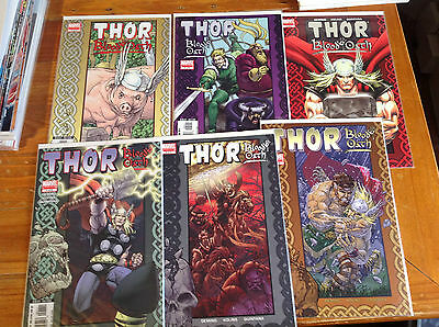 The Mighty Thor 6 Issue Mini Series 'blood Oath' Oeming/kolins Avengers Odin