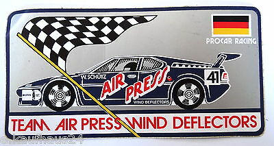 Aufkleber BMW M1 Procar Racing W.Schütz Air Press 70er Jahre Sticker Motorsport