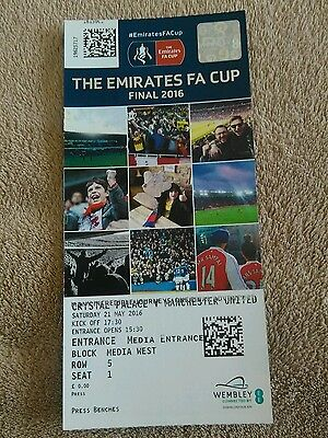 Crystal Palace v Manchester United MINT FA Cup Final Match Ticket 21/5/2016