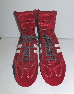 Brand New Omp Red Suede Nomex Race Boots 45 Fia 86