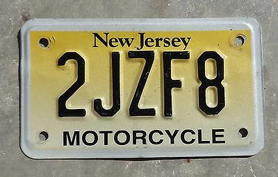 New Jersey motorcycle license plate #  2JZF8