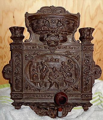~RARE~ Antique Metal Victorian English? Wall Mounted Pipe Rack Stand Holder