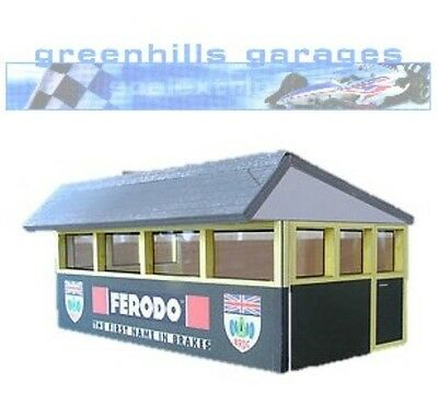 Greenhills Scalextric Slot Car Building Silverstone Press Box Kit 1:32 scale - B