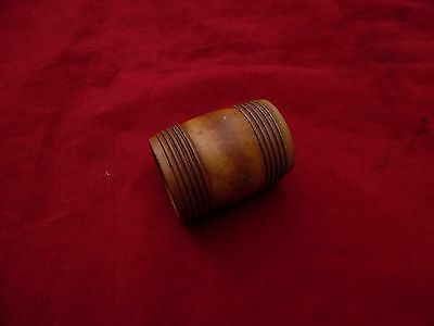 Antique treen small wooden turned pot - 4cm across