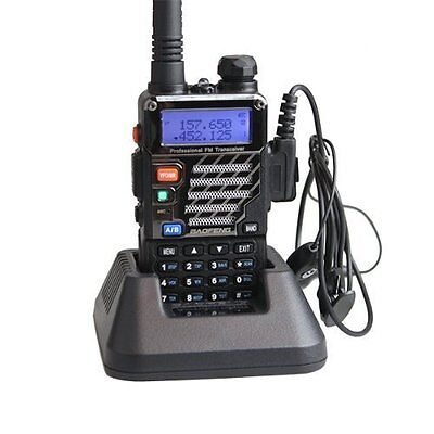 NEW BAOFENG UV 5RE Dual Band Amateur Radio with Earpiece FREE SHIPPING