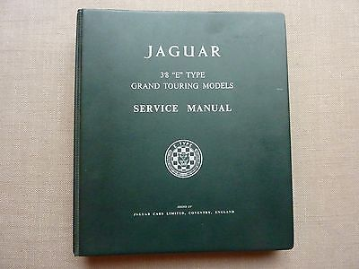 Jaguar E type 3.8 Grand Touring Models Service Manual E/123/8 plus supplement 4.