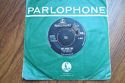 THE BEATLES - SHE LOVES YOU / I'LL GET YOU - UK 1st PARLOPHONE R 5055/1963  EX