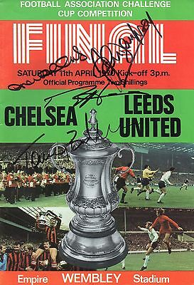 AUTOGRAPHED 1970 FA Cup Final Programme - Chelsea vs Leeds United