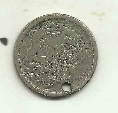 United States, 10 cents, 1875 ('Arrows removed' type) - 90% silver