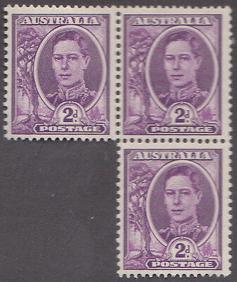 Australia 1942 2d SG205 UM Block of 3 Cat £5.25