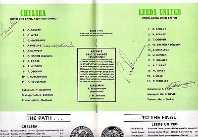 AUTOGRAPHED 1970 FA Cup Final Programme - Chelsea vs Leeds United #2