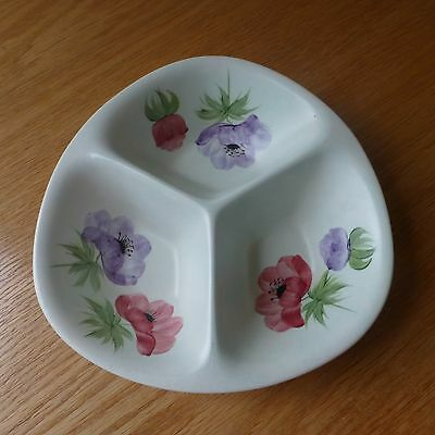 Radford Pottery Divided Dish Anemone Pattern