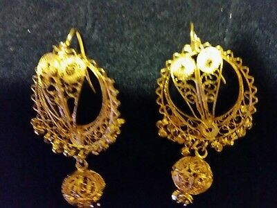 traditional gold indian earings