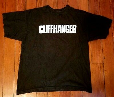 Rare 1993 Cliffhanger Movie Promo T-Shirt - Sylvester Stallone John Lithgow