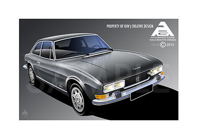 Peugeot 504 Coupe Poster
