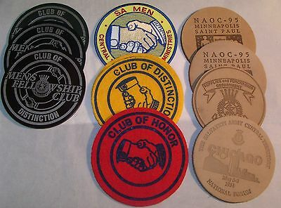 Salvation Army - LIQUIDATING LEFT OVER  PATCHES & COASTERS  - VARIETY OF11 items
