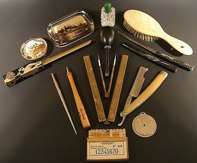 JUNK DRAWER LOT, COLLECTION OF VINTAGE & ANTIQUE SMALLS 1800-1900s