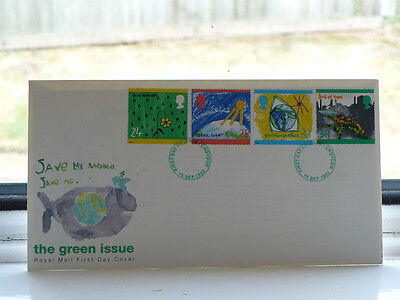 First Day Cover The Green Issue 15 September 1992