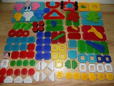 Stickle Bricks Huge Collection Well Over 100 Assorted Colourful Pieces In Box
