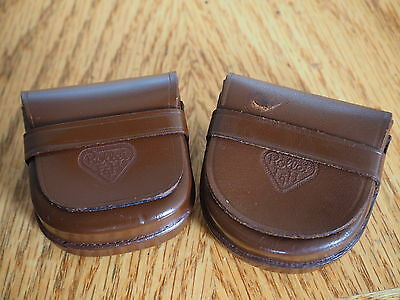 A Pair Of Vintage Rollei Brown Leather Cases:for Filters Or Lens Shade :very Goo