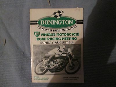 DONINGTON VINTAGE ROAD RACES SUNDAY AUGUST 5th 1979 OFFICIAL PROGRAMME