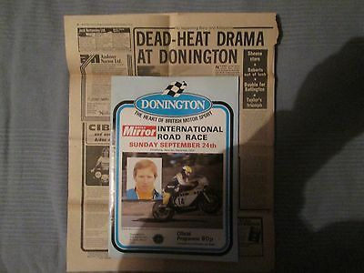 DONINGTON INTERNATIONAL ROAD RACE SUNDAY 24th SEPTEMBER 1979 OFFICIAL PROGRAMME