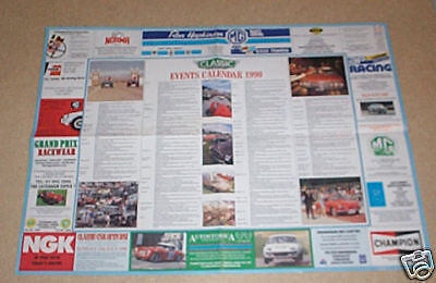 Classic & Sportscar 1990 Events Calender / Wall Chart