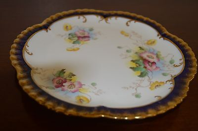 William A Adderley and Co plate blue white floral porcelain Victorian 1886