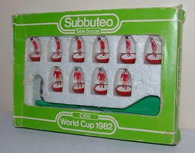 Subbuteo 41 World Cup 1982 - Liverpool Canada Scunthorpe Light Weight Team
