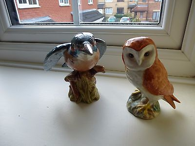 Beswick  Owl  And Kingfisher For Restoration