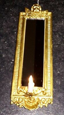 Dolls house candle mirror wall light.