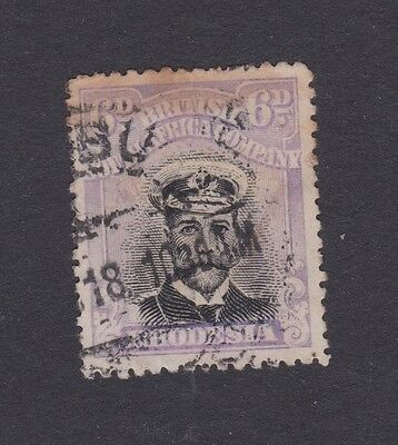 Stamp Rhodesia, British South Africa Company used 6d