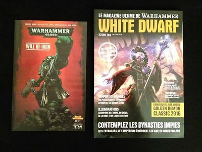 White Dwarf October 2016 WH40K Genestealer Cults & Will of Iron comic Sealed!!