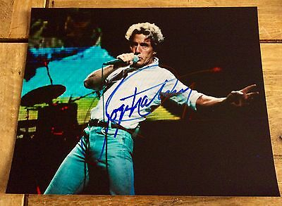 Hand signed Roger Daltrautograph on 10x8 photo singer The Who