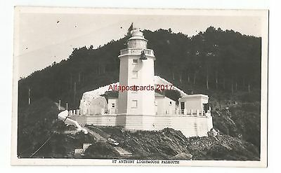 Cornwall St Anthony Lighthouse Falmouth Real Photo Vintage Postcard