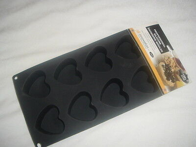 8 Cup Professional Silicone Heart Shape Patisserie Non-Stick Moulds ( New)