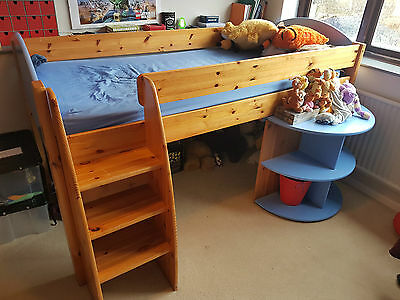 BOYS MID SLEEPER BED with PULL OUT DESK BY STOMPA
