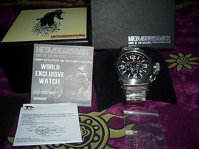 METAL GEAR SOLID 4 Limited Edition Watch Number 432/500 World Exclusive 2008