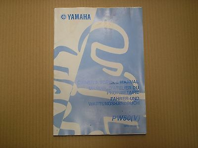 Yamaha PW 50 PW50 V genuine owners service manual April 2005 5PG-28199-85