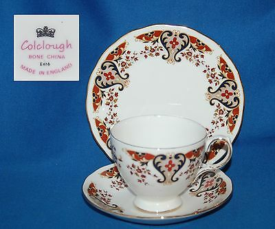 Colclough pattern 8525 trio, cup, saucer and plate