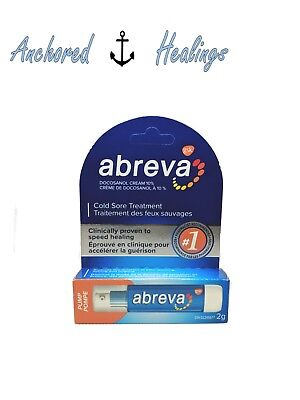 Abreva Cold Sore PUMP Treatment Docosanol Cream 10% 2g Expires 11/2019