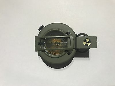 Francis Barker green military prismatic compass