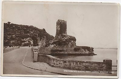 Real Photo Postcard Strongbows Castle Ferrycarrig Ferry Carrig Wexford Ireland